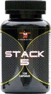 Potje met Stack 5 Fatburner van M Double You - Inhoud: 90 Capsules